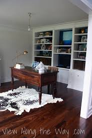 rug for office. Home Office With Cowhide Rug For E