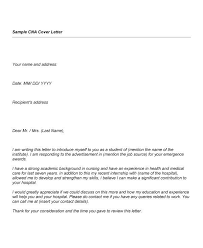 Cover Letter For Cna Resume Resume Cna Resume Sample With No