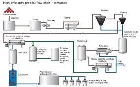 Tomato Sauce Production Flow Chart Tomato Processes
