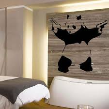 image is loading large banksy panda wall art sticker transfer from  on panda wall art uk with large banksy panda wall art sticker transfer from uk posted same day