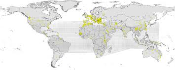 Bluetounge Virus Summary Of Bluetongue Virus Occurrences Yellow Points Available