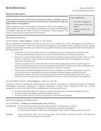 Entry Levele Officer Resume Objective Examples Retired Nypd Job Cv
