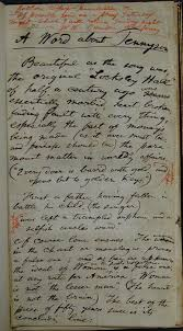catalog of the walt whitman literary manuscripts in the trent content a complete draft of whitman s essay a word about tennyson which was first published in the critic on