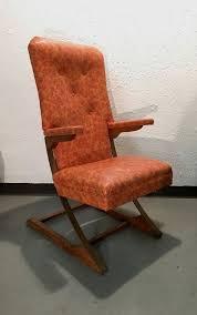 mid century modern orange fl rocking chair by mckay
