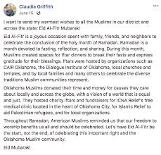 Remembering Rep. Claudia Griffith: A Profound Loss for Our State | CAIR  Oklahoma