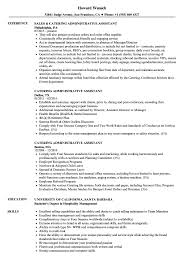 Catering Administrative Assistant Resume Samples | Velvet Jobs