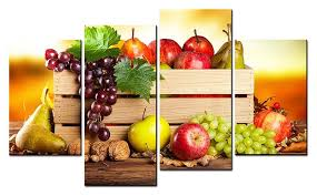 4 panels paintings for the kitchen fruit wall decor modern canvas art wall pictures for living