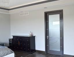 interior door arazzinni avanti vetro interior door in a black apricot finish with silver strips