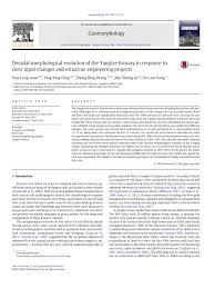 Pdf Decadal Morphological Evolution Of The Yangtze Estuary