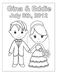 Small Picture Personalized Printable Bride Groom Wedding Party Favor Childrens