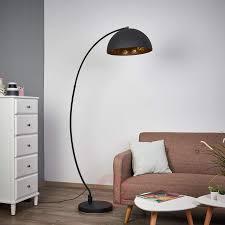 Golden Sun Arc Floor Lamp