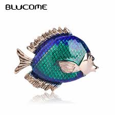 Blucome New Arrival lovely <b>Blue</b> Texture Enamel <b>Elephant</b> Shape ...