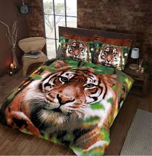 jungle tiger duvet cover set