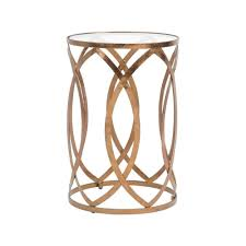 interior round side table wooden small oak tables for living room wood with glass top metal