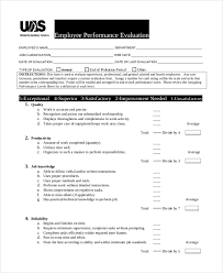 Sample Employee Performance Appraisal Sample Employee Evaluation Form 10 Free Documents In Word Pdf