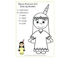 Native American Indian Coloring Pages Free Printable Page Of Kids