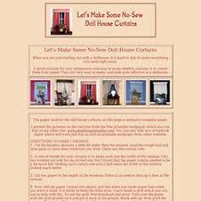 free dollhouse furniture patterns. No-Sew Doll House Curtains Free Dollhouse Furniture Patterns