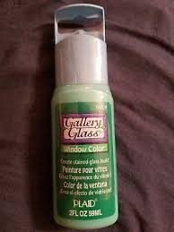 plaid gallery glass paint 16009 2 oz emerald green create stained glass look