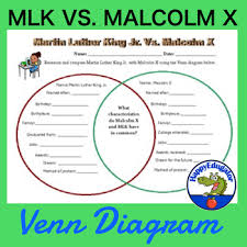 Mlk Vs Malcolm X Venn Diagram Martin Luther King Jr Vs Malcolm X Venn Diagram Martin