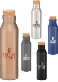 copper water bottles with cork lid