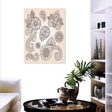 Henna Wall Designs Amazon Com Anyangeight Henna Canvas Wall Art Flowers
