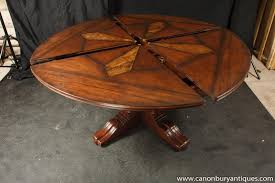 round expandable dining table designs