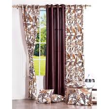 Maroon Curtains For Living Room Blanc Living Room 3 Piece Curtains And 5 Piece Cushion Covers Set