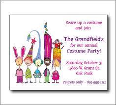 costume party invites costume party invitation sooboo on artfire