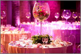 charming wedding table decorations with round table be equipped glass and round table decoration ideas
