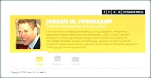 Personal Resume Website Example Sarahepps Com