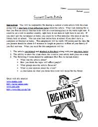 this current events article assignment would work great in your  this current events article assignment would work great in your social studies class as a way