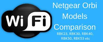 Netgear Orbi Models Comparison Rbk30 Vs Rbk40 Vs Rbk50 Vs