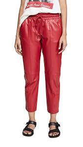 Amazon Com David Lerner Womens Vegan Leather Joggers Clothing
