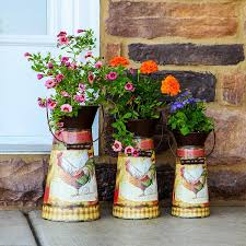 Image Wedding Rustic Decorated Metal Pitcher Planters Homebnc 34 Best Vintage Garden Decor Ideas And Designs For 2019