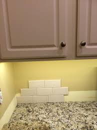 does this backsplash look right in my kitchen option a allen roth glazed 3x6 ceramic wall tile fawn