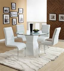 Small Picture 45 Lynelle White Round Glass Dining Table Set