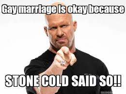 Stone Cold Steve Austin approves gay marriage via Relatably.com