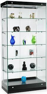 displays2go 36 glass display case w frameless design