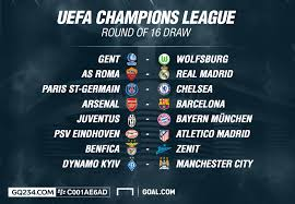 champions league round 16 table