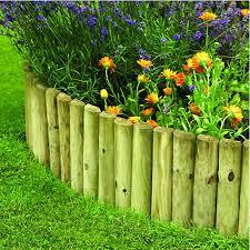 garden edging fence. Wickes Half Log Timber Border Edging Roll - 300 X 1800 Mm Garden Fence