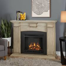 real flame adelaide indoor electric fireplace in dry brush white
