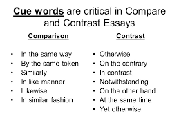 compare and contrast essay ppt video online cue words are critical in compare and contrast essays