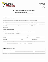 Club Membership Form Template Booster Club Membership Form Template Fresh Club Membership