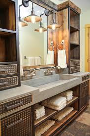 diy trough sink bathroom with concrete sink steel vanity