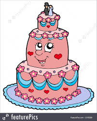 Cartoon Wedding Cake Illustration Cartoon Wedding Cake