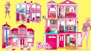 Barbie Dreamhouse 2017 - 6 Barbie Dollhouse Unboxing Review Baribe Dolls  Full house Tour - YouTube