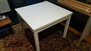 pick up balmain ikea bjursta extendable white dining table never used