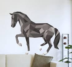 polygonal horse wall art sticker on horse wall art decal with polygonal horse wall art sticker tenstickers