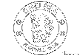 Coloriage Logo Chelsea Football Imprimer Et Colorier