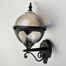 mystic smoke globe wall light with photocell dusk to dawn sensor
